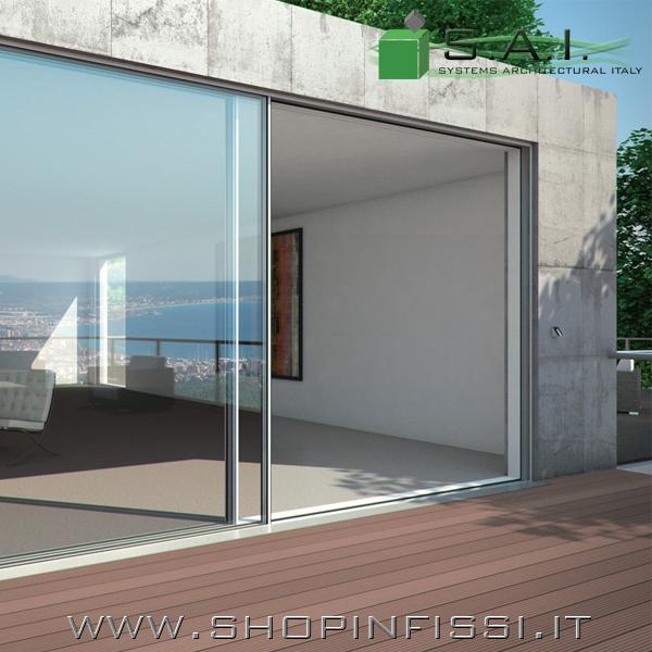 Porte finestre scorrevoli schuco ass 77 pd si - Zanzariere scorrevoli per porte finestra ...